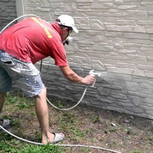 Подготовка бетонного основания под покраску
