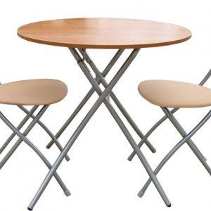 Складные стулья и столы из металлокаркаса