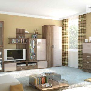 Гостиная: устройство натяжного потолка, отделка стен и пола