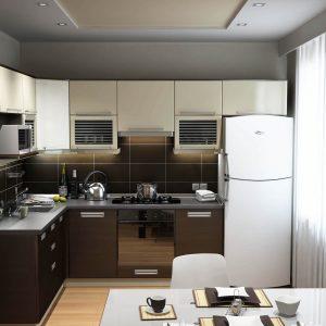 Дизайн кухни 3х4