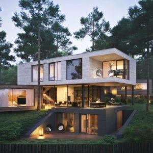 Дом на рельефе