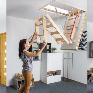 Надежные и практичные лестницы для чердака
