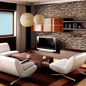 Интерьер зала в современном доме