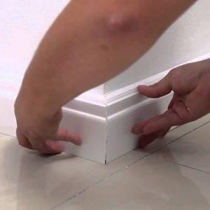 Советы по монтажу плинтуса под покраску