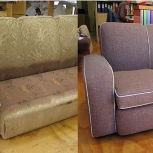 Перетяжка и реставрация дивана