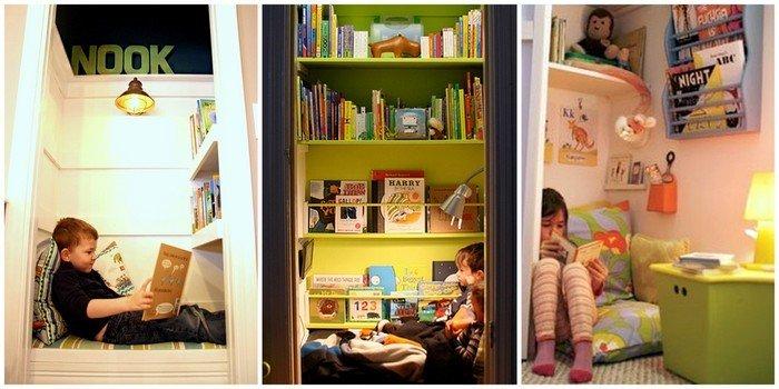 Как хранить книги в детской
