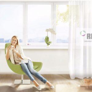 Пластиковые окна РЕХАУ в современном интерьере