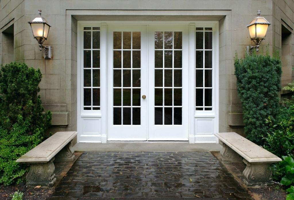 exterior french doors with sidelights patio
